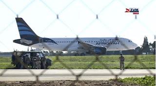 Plane hijacking in Malta ends peacefully; 2 men surrender
