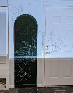 diy mural with projector
