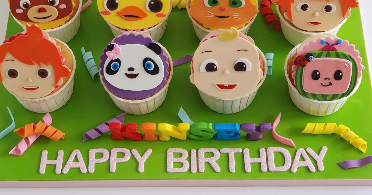 Celebrate with Cake!: Cocomelon themed Cupcakes
