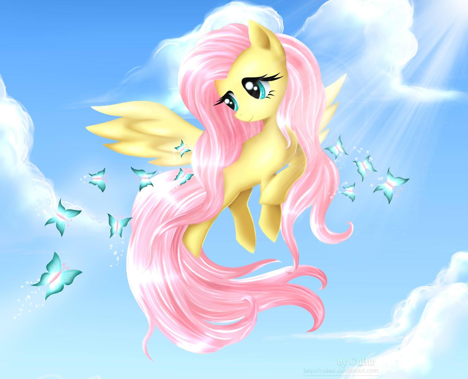 Cubur Drawings Pony Fluttershy Fanart