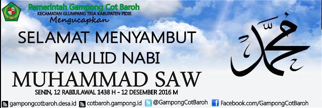 Selamat Menyambut Maulidur Rasul 1438 H – 12 Desember 2016 M