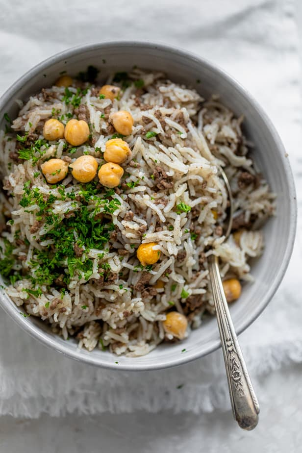 Mediterranean Ground Beef and Rice