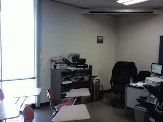 kinda messy classroom