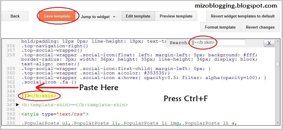 blogger html ah css code dah luh dan
