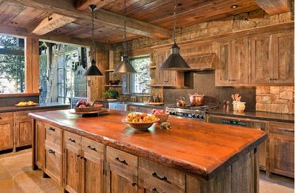 Diseños de cocinas con muebles de madera - Colores en Casa