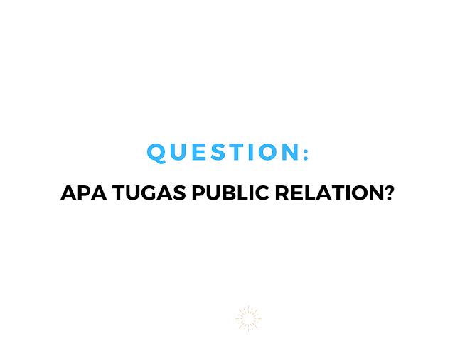 tugas public relation