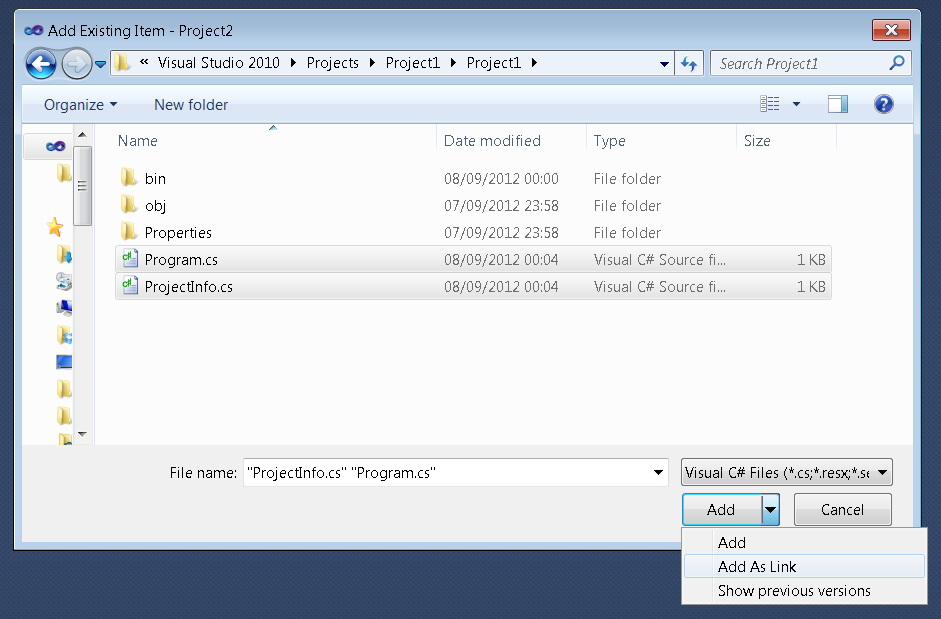how to add existing database to visual studio
