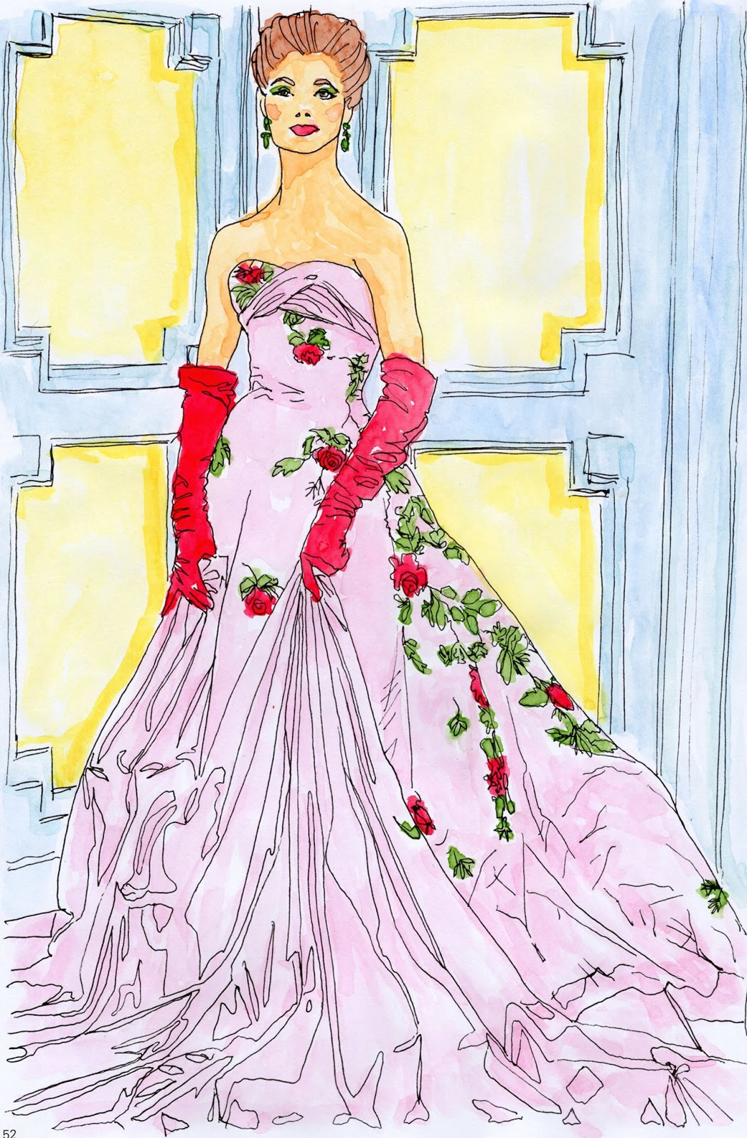 Colouring With Prue Vintage Vogue Colouring Fashion