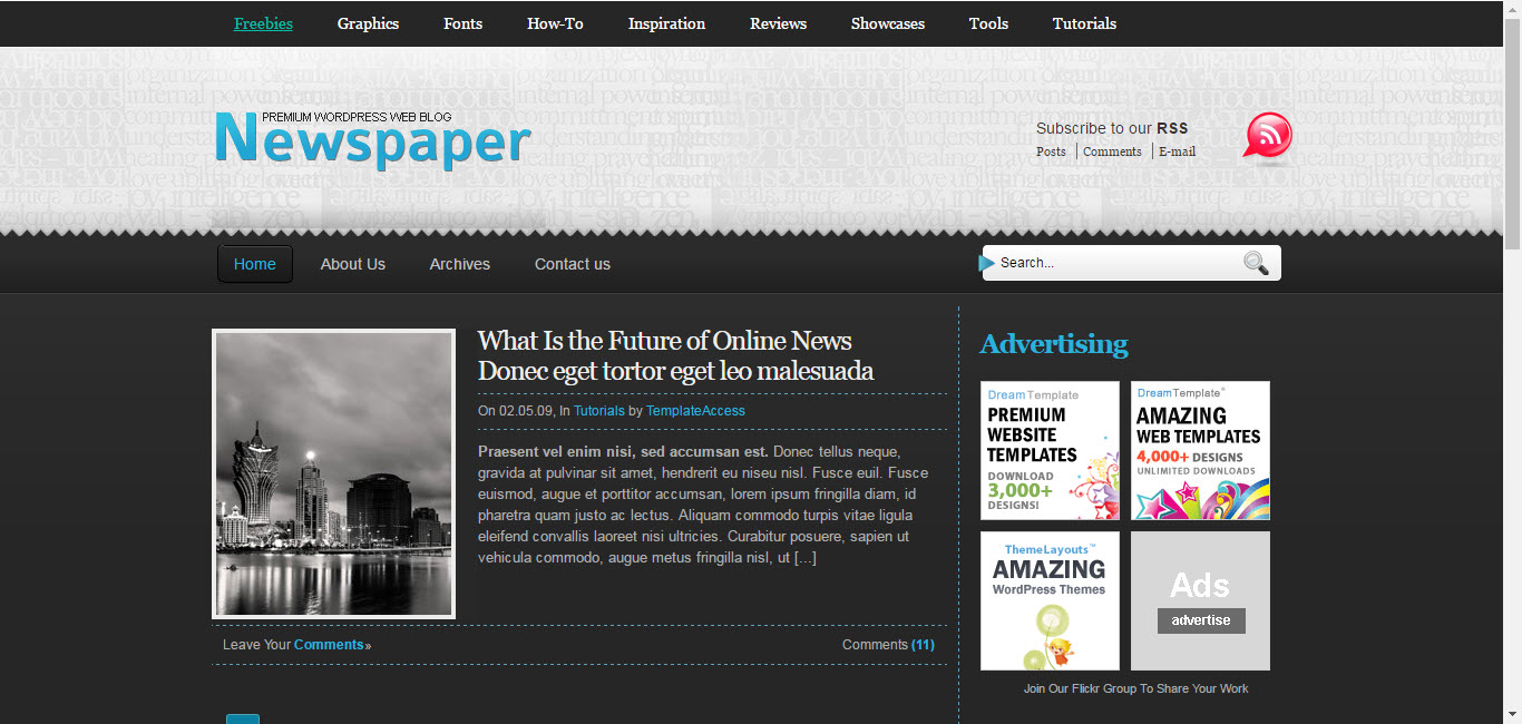 inews paper html templates - Blogger Templates