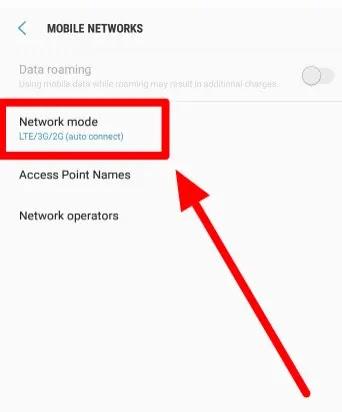تغيير وضع شبكة الهاتف الخاص بك