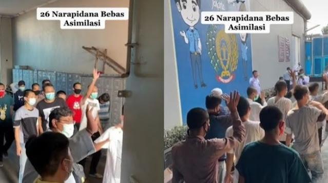 Viral Video Detik-detik Sipir Bebaskan 26 Napi dari Penjara, Banjir Doa
