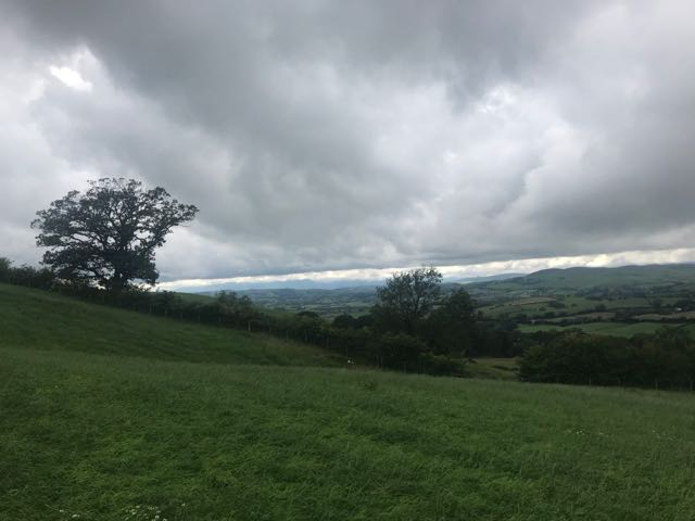 Kendal in the distance
