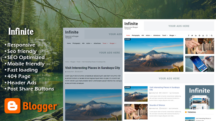 Infinite Pro Responsive Blogger Template
