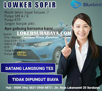 Walk In Interview di Blubird Taxi Surabaya Terbaru November 2019