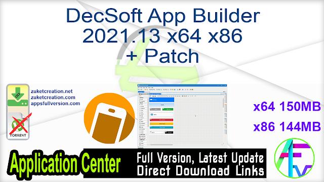 DecSoft App Builder 2021.13 x64 x86 + Patch