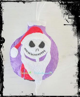 Adorno-Navideño-de-Jack-Skeleton-Bola-de-Navidad-en-Fieltro-creandoyfofucheando