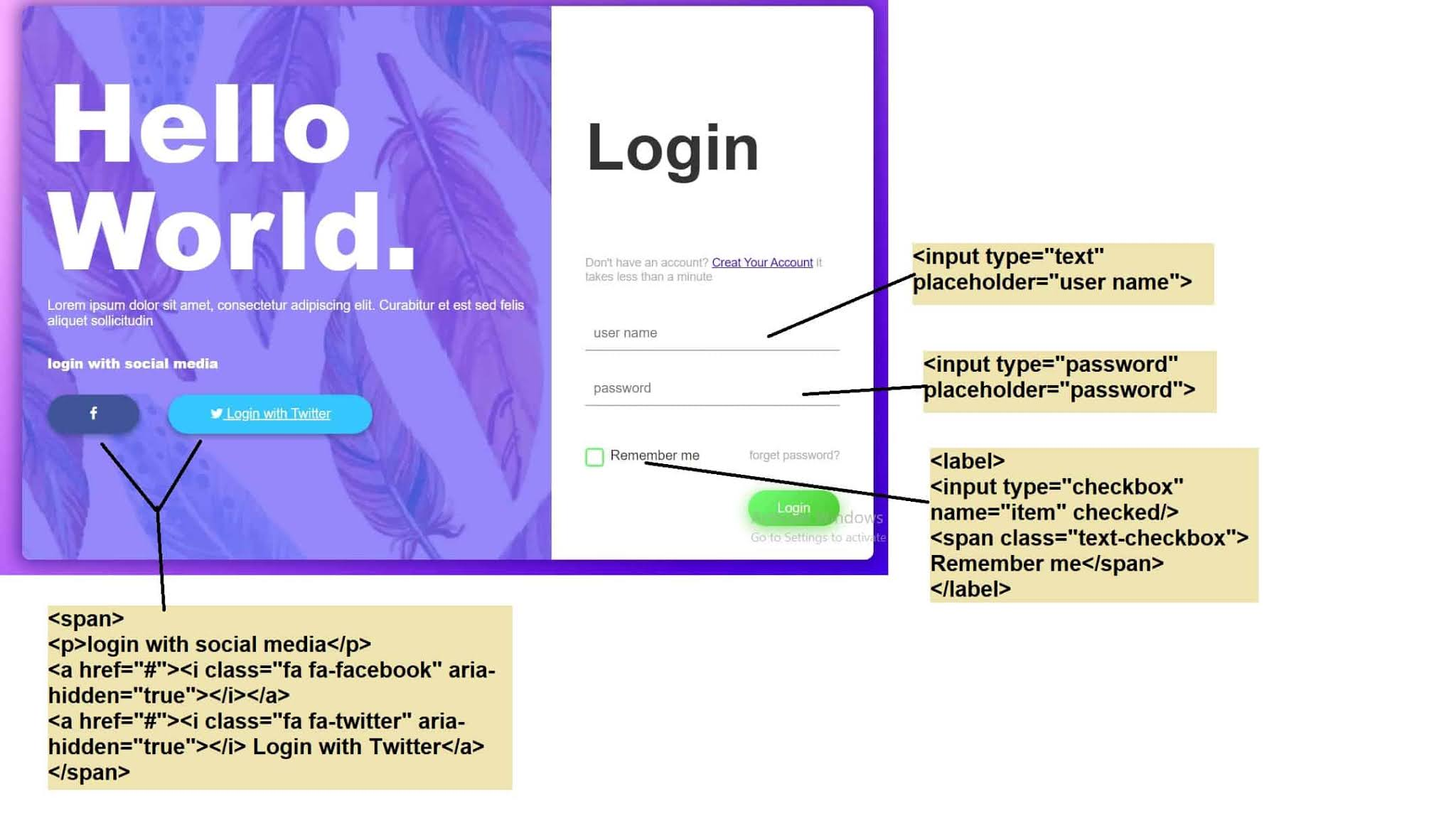 how to create a Professional and Responsive Login