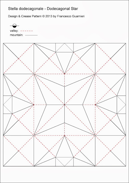 CP-origami: Stella dodecagonale - Dodecagonal Star, Francesco Guarnieri