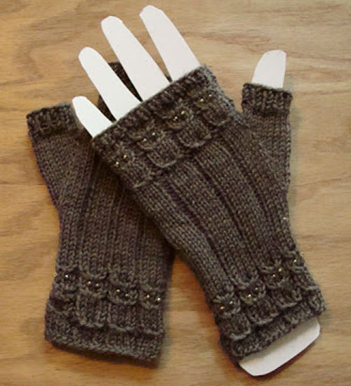 Owlings Fingerless Mitts