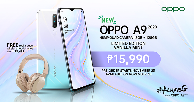 OPPO A9 2020 Limited Edition Vanilla Mint released in PH!
