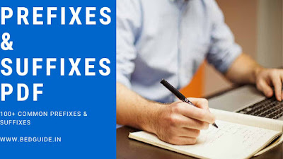 Prefixes and Suffixes List PDF Download For Competitive Exam
