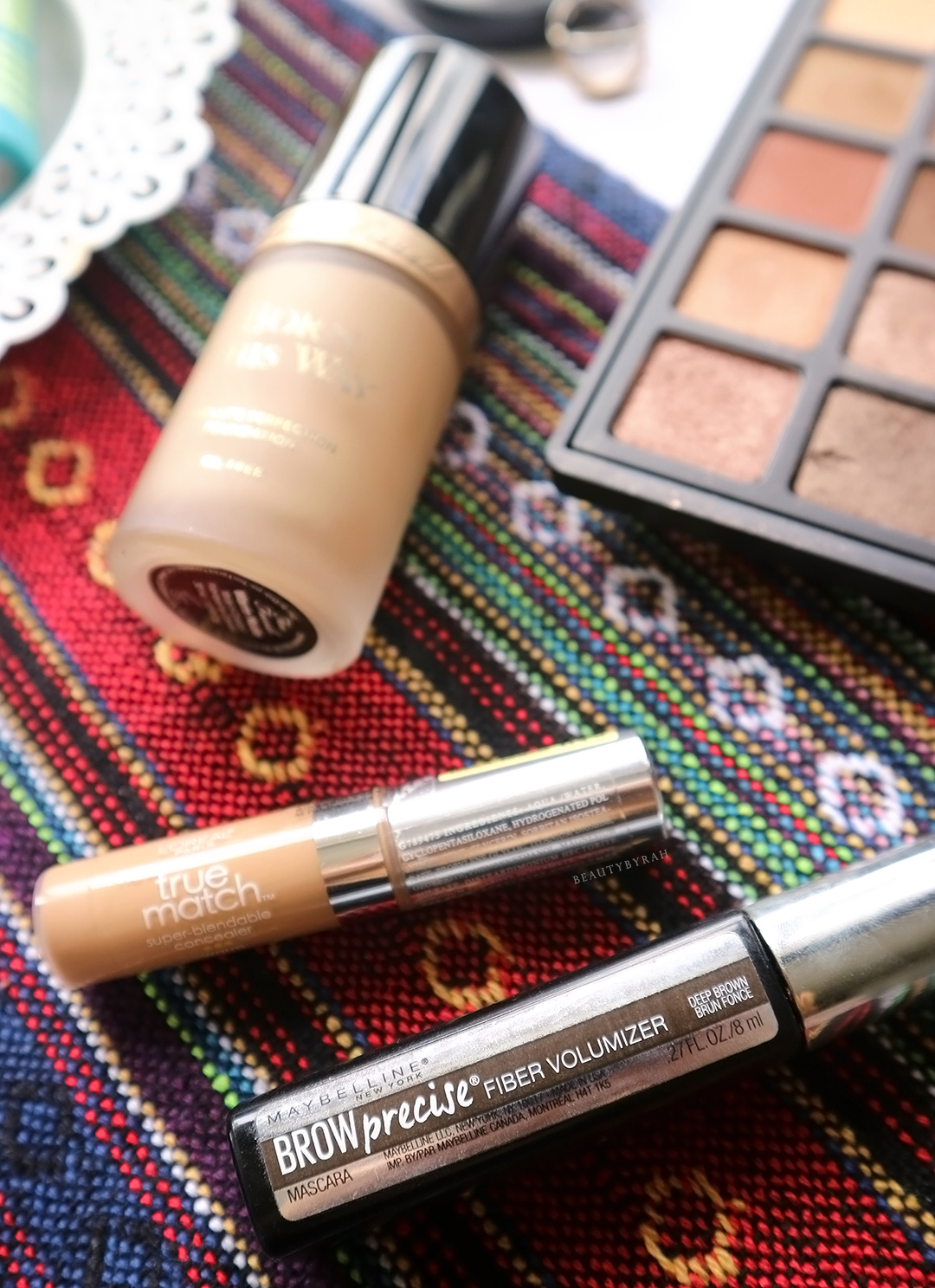 Maybelline Brow Precise Brow Mascara and Loreal True Match concealer review