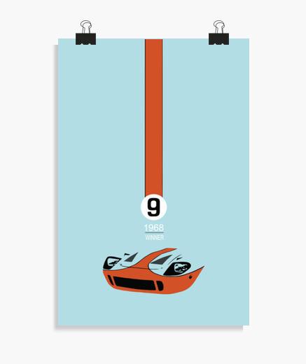 coche, coches,ford, gt40, Vintage, Retro