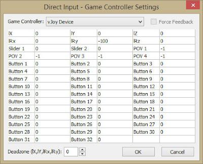 MaxAim DI: vJoyDevice Direct Input Game Controller Settings