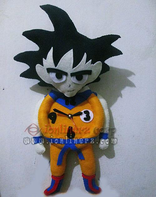 Jam Dinding Flanel Karakter Kartun Boneka Dragon Ball