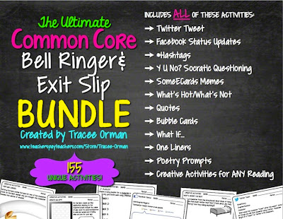 The Ultimate Common Core Bell Ringer & Exit Slip Bundle (155+ activities)