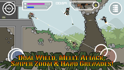 Experience intense multiplayer combat with up to  Doodle Army 2 : Mini Militia Mod Apk v2.2.61 Android [Mega Mod]
