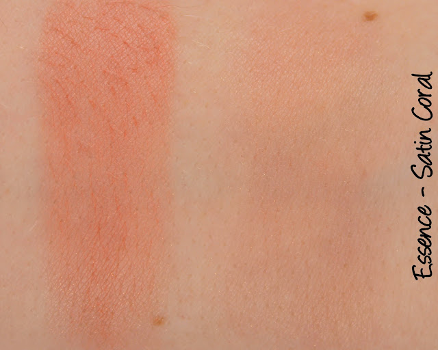 Essence Satin Touch Blush - Satin Coral Swatches & Review