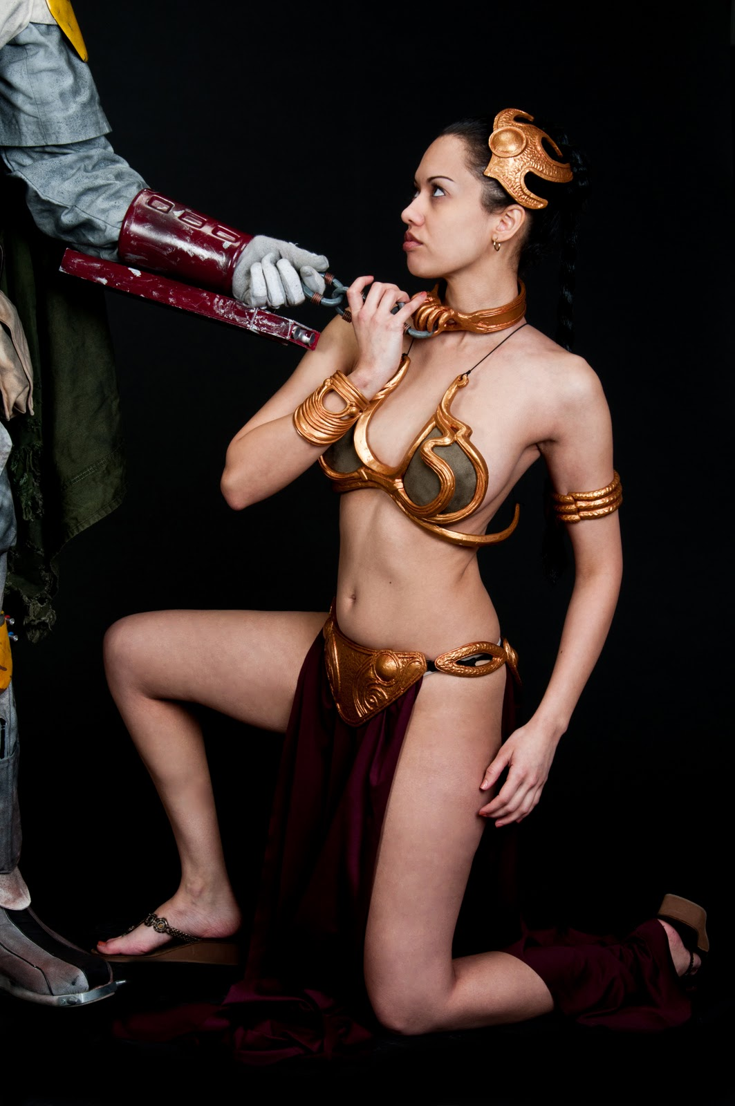 Star wars princess leia slave cosplay well