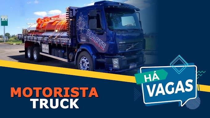 Transportadora Duarte abre vagas para Motorista Truck
