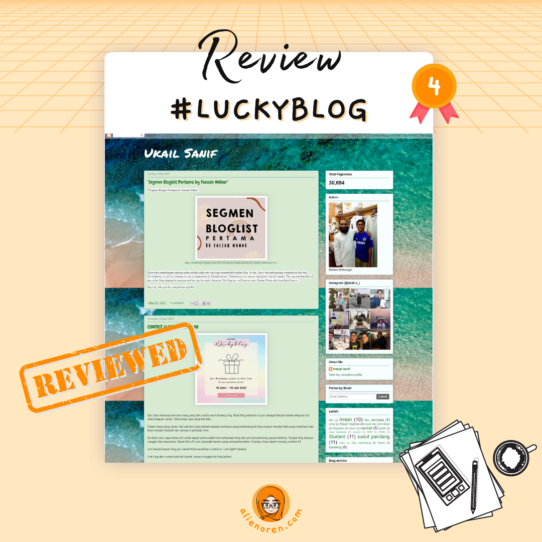 Review blog saudara Ukail