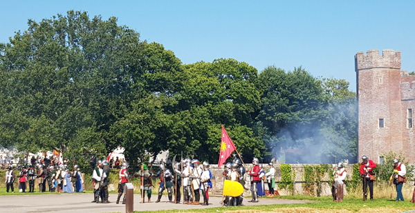 Battle at Herstmonceux Castle