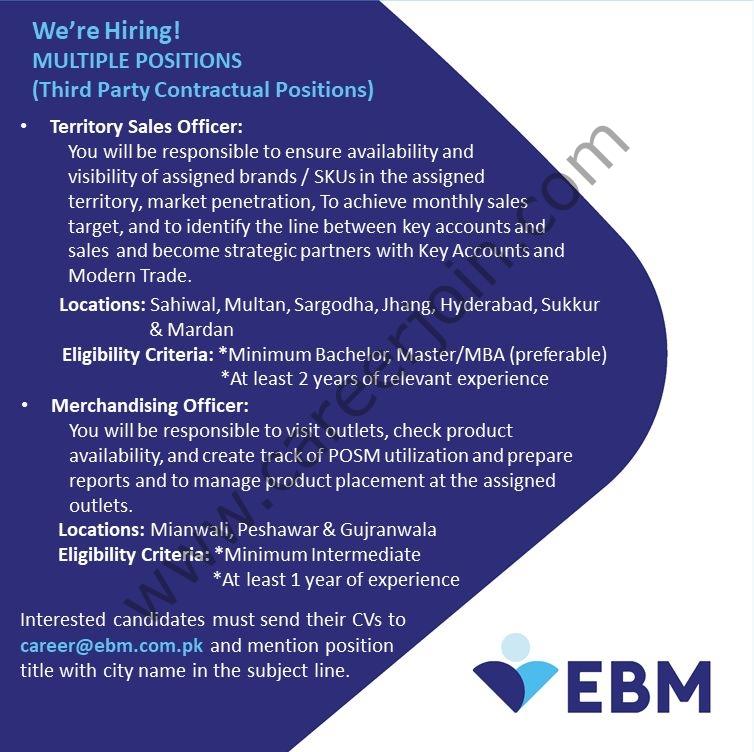 career@ebm.com.pk - EBM English Biscuits Manufacturers Pvt Ltd Jobs 2021 in Pakistan