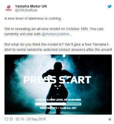 Twitter Yamaha Eropa Merilis Teaser Motor Baru, MT Series?