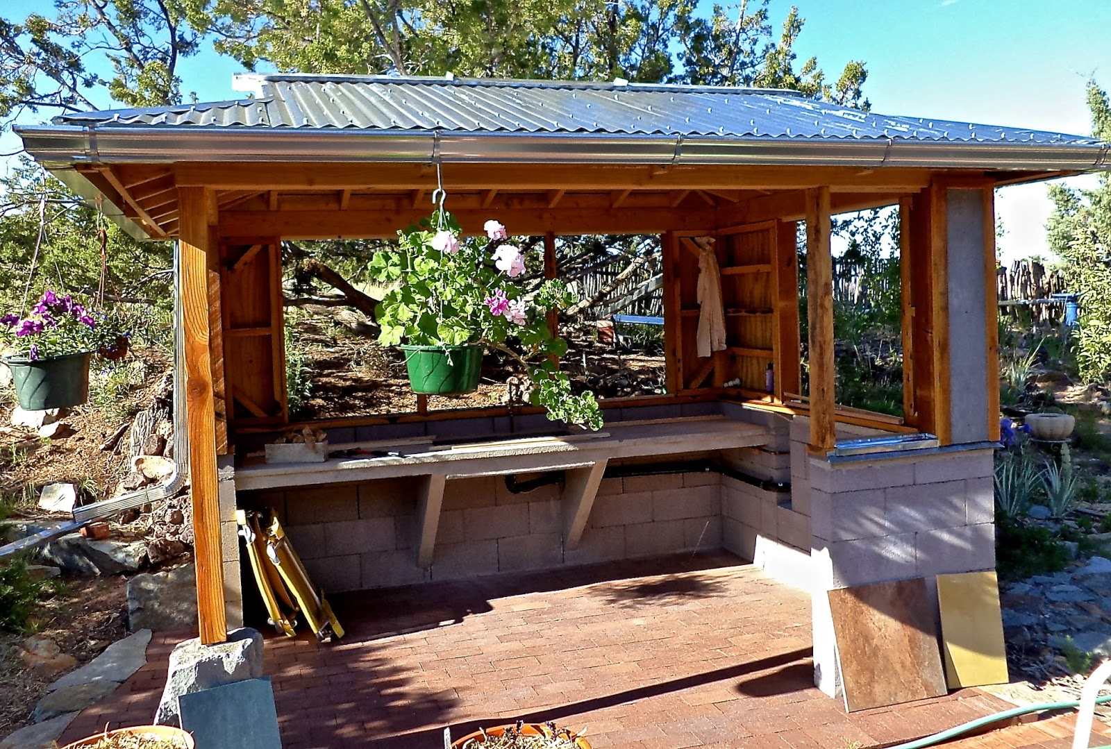 Alt. Build Blog: Building An Outdoor Kitchen: #2 Framing ... on Backyard Bar With Roof id=47996