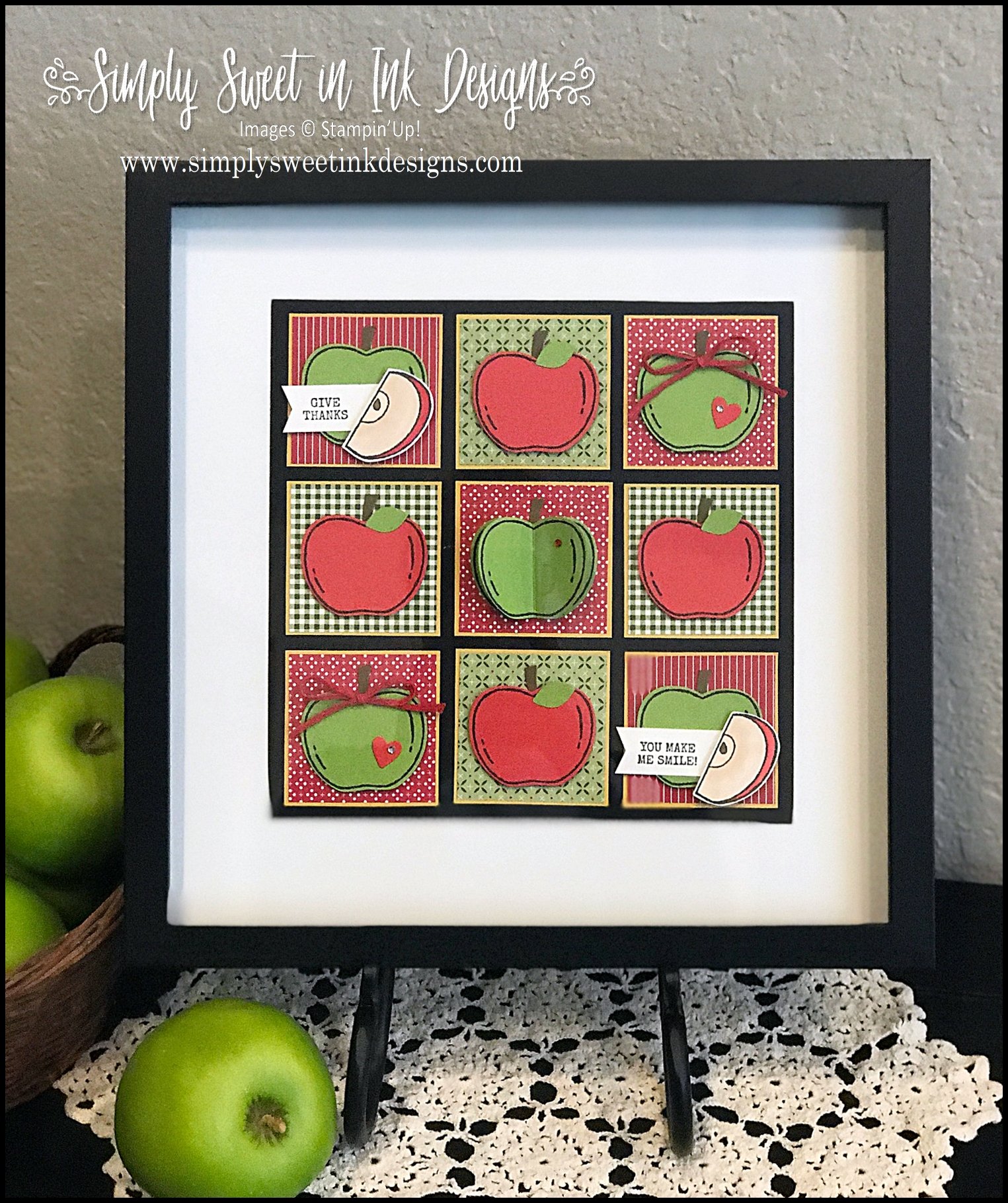Simply Sweet In Ink Designs Harvest Hellos Apple Home Decor Sampler