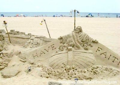 Sand Sculptures in Ocean City Maryland