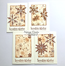 Nigezza Creates with Stampin' Up! Snowflake Wishes One Sheet Wonder