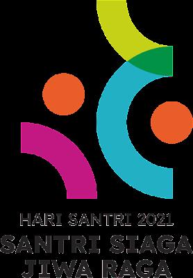 Logo Hari Santri 2021 versi resmi Kemenag RI. Format PNG