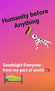 Humanity Before Anything, Instagram story