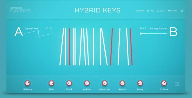 Interface da Kontakt Library Native Instruments - Hybrid Keys 2.0.1