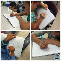 students write Friday letters to parents