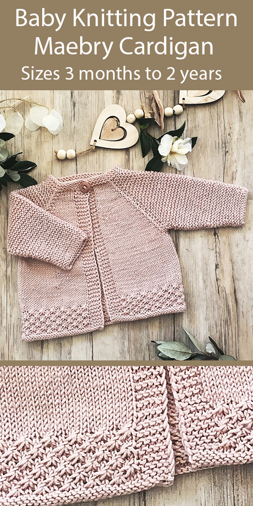 Baby Maebry Cardigan - Knitting Pattern