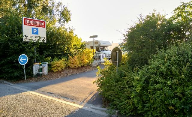 Entrada del pàrquing de Caen