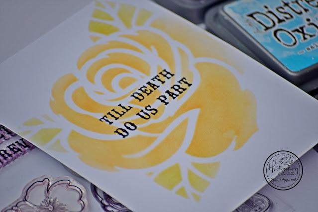 big rose stencil