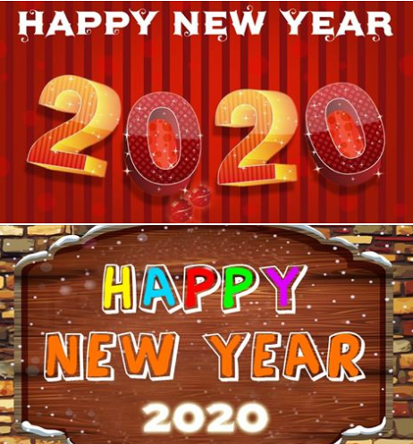 Happy new year 2020 china images 新年快乐2020中国图像